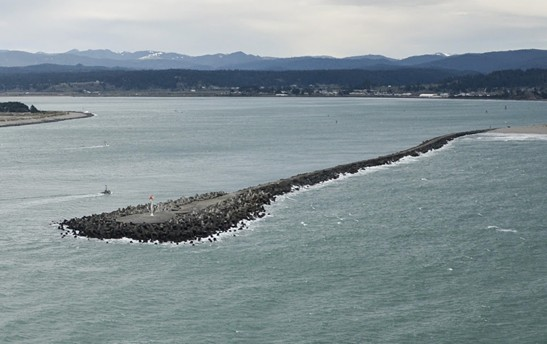The North Jetty. - USCG
