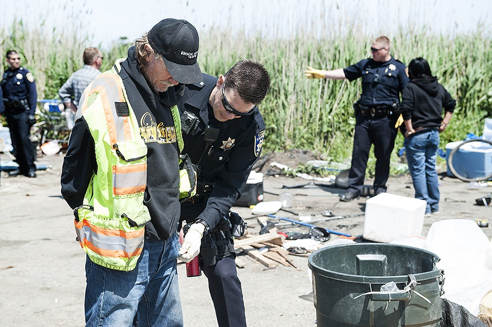 The Grand Jury identified 10 ordinances in Eureka that may serve to criminalize the state of homelessness, resulting in citations and fines that pose additional barriers for people looking to get off the streets. - MARK MCKENNA