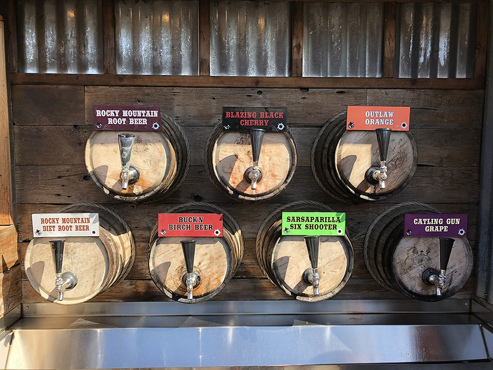 The taps at Wild Bill's Olde Fashioned Soda Pop Co. - PHOTO BY JENNIFER FUMIKO CAHILL