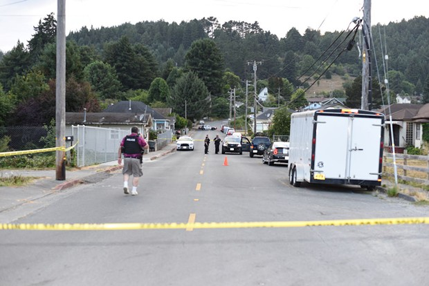The scene of the shooting. - CITY OF RIO DELL