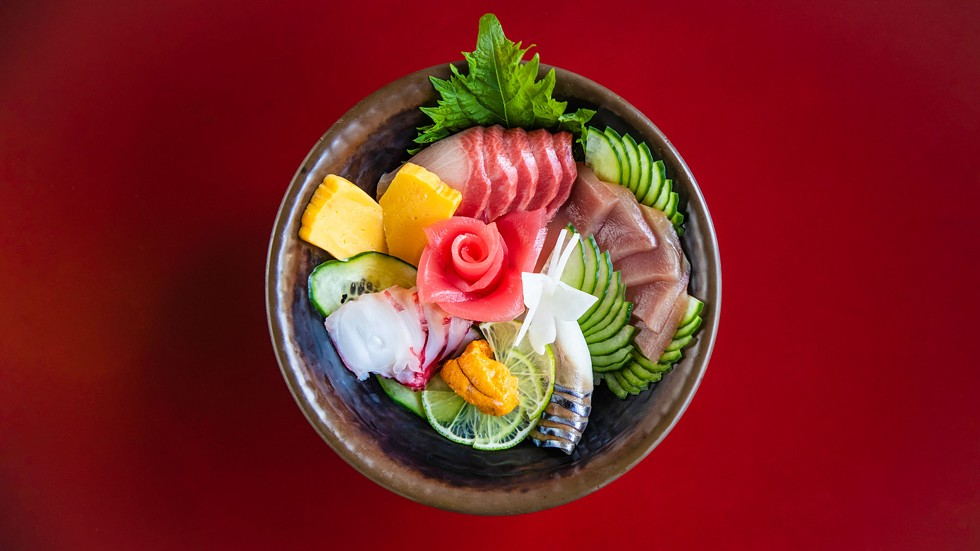 Chirashi sushi with local tuna and octopus. - AMY KUMLER