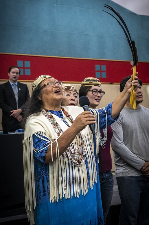 Wiyot tribal elder Cheryl Seidner has worked for the return of Duluwat Island for decades, carrying on the efforts of her parents. - MARK LARSON