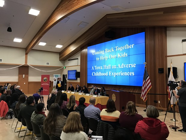 California Surgeon General speaks about the impact of ACEs awareness at a town hall meeting Nov. 22. - IRIDIAN CASAREZ