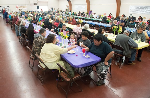 A shot from the 2017 Intertribal Gathering and Elders Dinner. - FILE