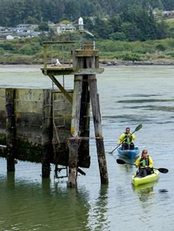 Paddling along the Humboldt coast. - AMY KUMLER