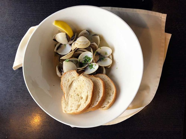 Classic steamer clams and crusty bread. - PHOTO BY JENNIFER FUMIKO CAHILL