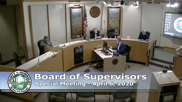 The Humboldt County Board of Supervisors. - SCREENSHOT