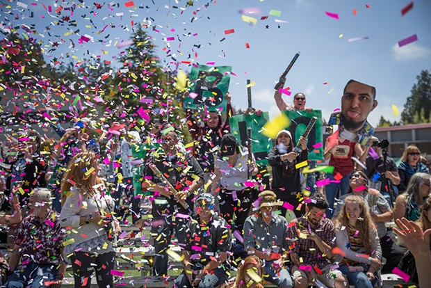 The confetti will have to be virtual this year. - FILE