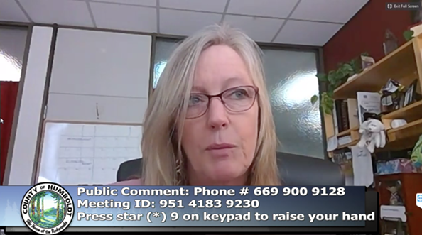 Fourth District Supervisor Virginia Bass - ACCESS HUMBOLDT SCREEN SHOT