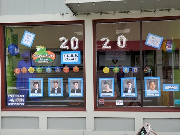 The window at Hoppy's FroYo. - FORTUNA CHAMBER OF COMMERCE