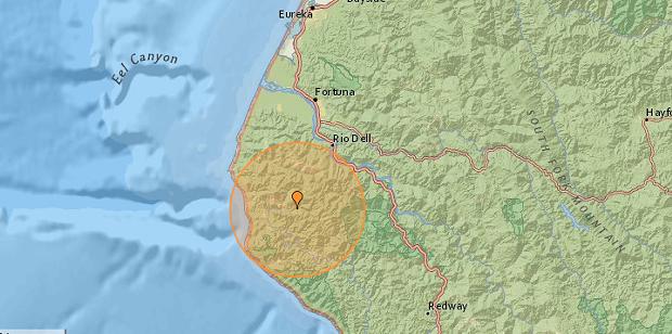 SCREENSHOT FROM EARTHQUAKE TRACKER