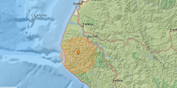 SCREENSHOT FROM EARTHQUAKE TRACKER