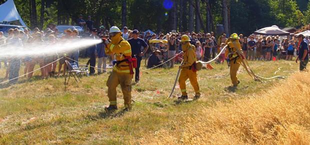 Roll on the Mattole Wildland Firefighter Challenge - RUDI WEBER