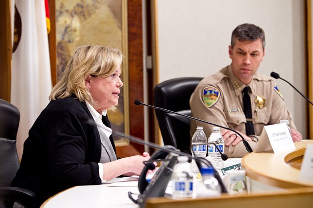 Humboldt County Public Health Officer Teresa Frankovich and Sheriff William Honsal talk COVID-19 at last night's virtual town hall meeting. - COURTESY OF DHHS