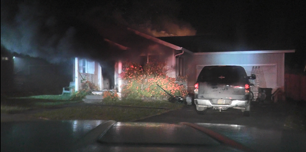 The scene of the house fire. - ARCATA FIRE DEPARTMENT