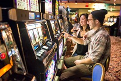 Blue Lake Casino will look different under new re-opening rules, which require patrons to be masked and physical distanced, and forbid food and drinks on the casino floor. - MARK MCKENNA
