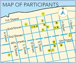 Map of participating businesses. - CITY OF EUREKA
