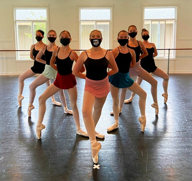 Representing Best Dance Studio Dance Scene Studio (from left to right): Zaila Barba-Oliveri, Brooke Grammer, Jessamy Moore, Carrie Badeaux, Ruby Reid, Syona Gonzalez and Elizabeth Cable. - PHOTO BY CAIN TOWERS