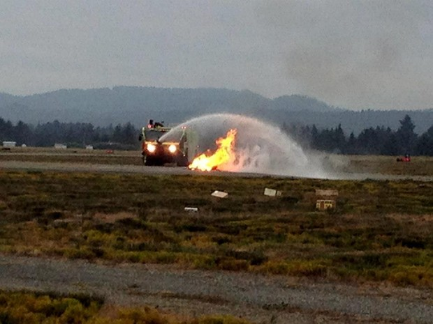 The Humboldt County Dept. of Aviation will be holding live-fire training at the California Redwood Coast – Humboldt County Airport (ACV) on Monday, Aug. 17 - FILE