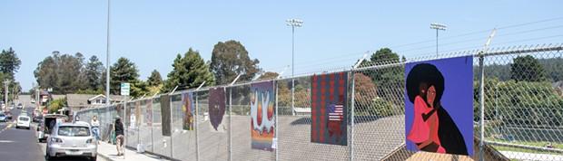 Art on the Fence Installation