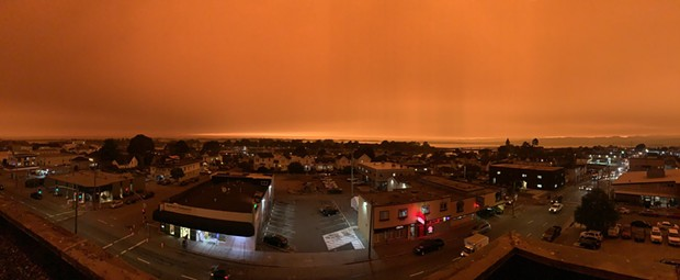 Photo of the sky at 9 a.m. from the top of the jail. - HCSO