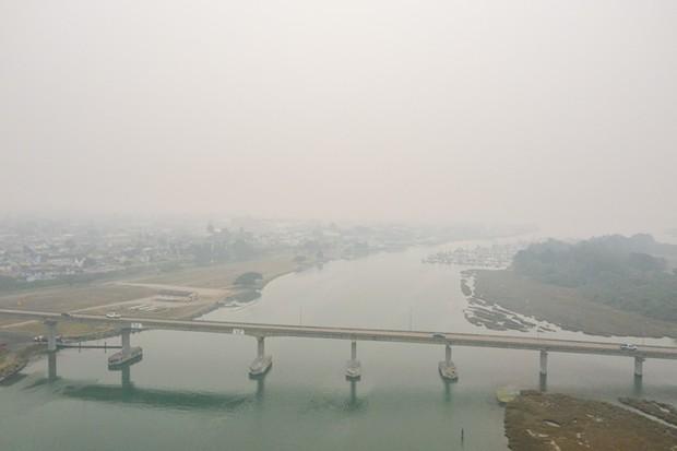 Eureka socked in with a smoky haze on Sept. 11. - MARK MCKENNA