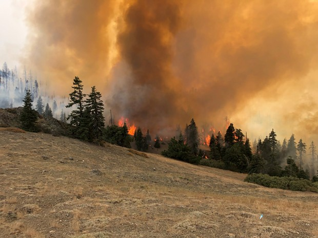 Photo of the August Complex. - U.S. FOREST SERVICE