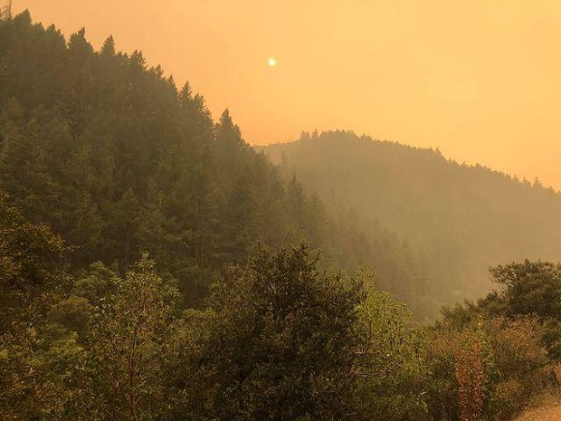 Smoky conditions on the Red Salmon Complex. - RED SALMON INCIWEB PAGE