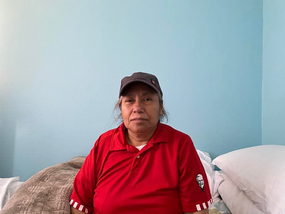 Paz Aguilar, 54, contracted coronavirus over the summer, along with at least seven of her coworkers, by her count, at a combined Kentucky Fried Chicken and Taco Bell in Oakland. Three weeks into her illness, a stroke left one side of her body paralyzed. - PHOTO VIA AGUILAR