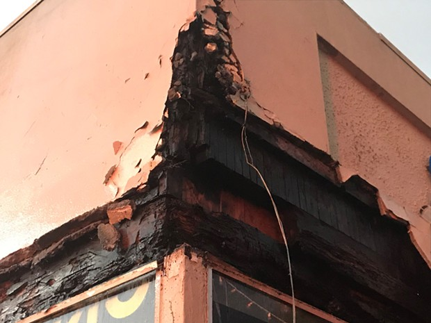 The result of a structure fire on Fifth Street in Eureka. - HUMBOLDT BAY FIRE