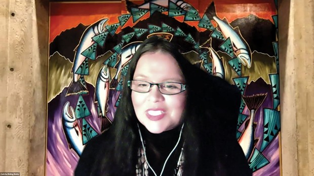 Baldy-Humboldt State University Native American Studies Chair Cutcha Risling Baldy discusses how Native people are largely absent from school curriculums. - SUBMITTED