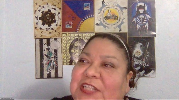Marshall-Rain Marshall, the Indigenous education advocate for the Northern California Indian Development Council, moderated the roundtable discussion. - SUBMITTED