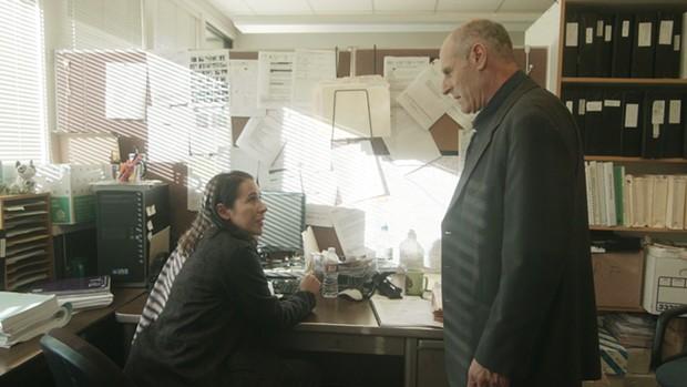 Queena DeLany as Det. Reina Herrera and Gary C. Stillman as Det. Jared Lamb. - CONFESSION