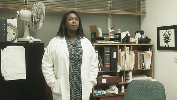 Cynthia Martells as Forensic Psychiatrist Dr. Waverly. - CONFESSION