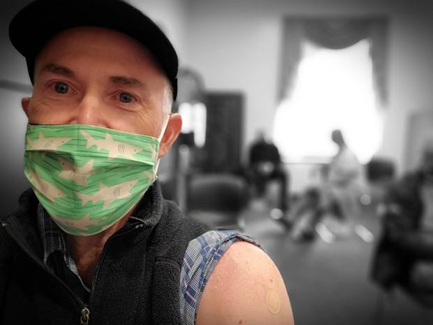 North Coast Rep. Jared Huffman getting his COVID-19 vaccine. - JARED HUFFMAN/FACEBOOK