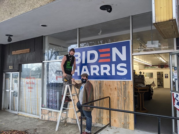 Damage at the Fourth Street office. - HUMBOLDT DEMOCRATIC CENTRAL COMMITTEE FACEBOOK
