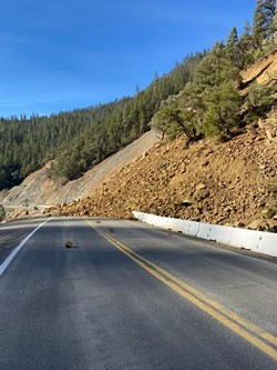 A slide also closed State Route 96 last month. - CALTRANS