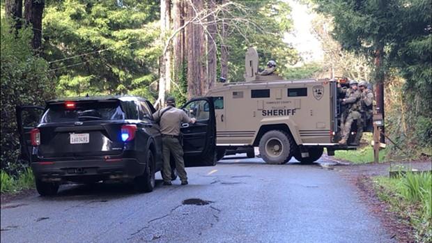 SWAT team at the scene. - HCSO