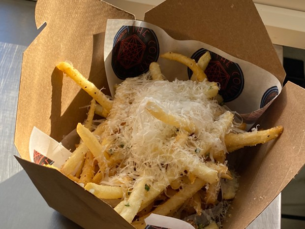 Parmesan truffle fries on the side. - SUBMITTED
