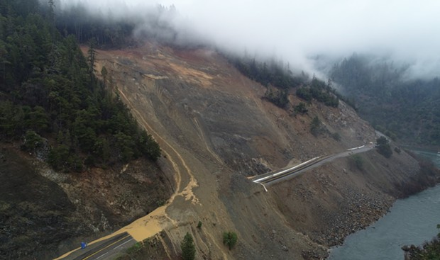 The slide on State Route 96. - CALTRANS