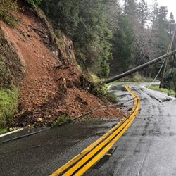 Powerlines down on SR169. - CALTRANS
