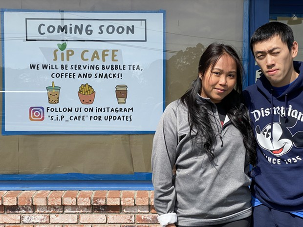 Sarah Ith Phe and Henry Phe in front of their planned S.I.P. Cafe. - COURTESY OF SARAH ITH PHE