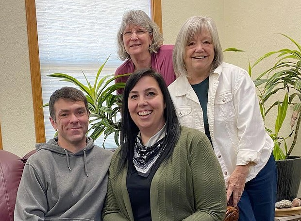 Clockwise from top, former Journal owners Carolyn Fernandez and Judy Hodgson, new owner Melissa Sanderson and her husband Chris. - SUBMITTED