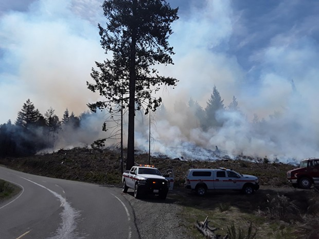 Two small fires are burning in the Bald Hills area. - CALFIRE