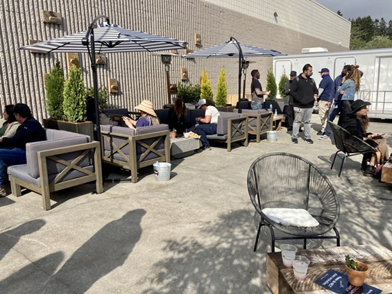 On April 20, revelers filled the consumption lounge during a soft opening. - JESSICA ASHLEY SILVA