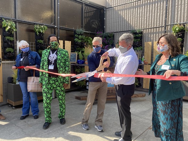 A ribbon cutting opening the new space. - JESSICA ASHLEY SILVA