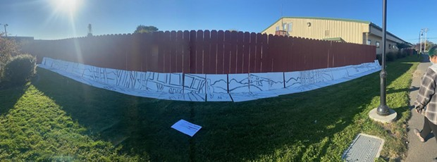 Mural in progress created by Fieldbrook Elementary and Redwood Coast Montessori students. - SUBMITTED