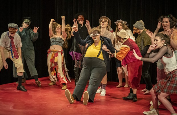 A performance by the first-year Dell'Arte Commedia students. - PHOTO BY MARK LARSON
