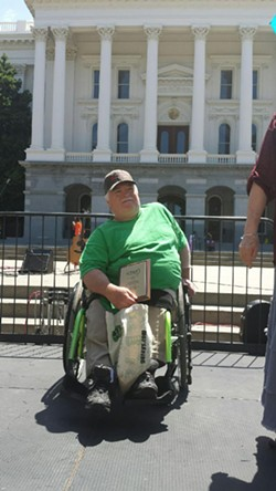 Charlie Bean on one of his many advocacy trips to Sacramento. - SUBMITTED