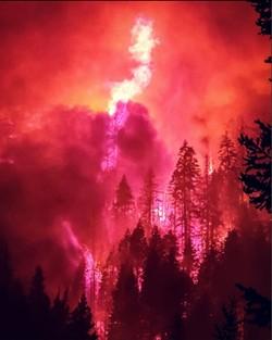 The River Complex Fire. - REID BARNEY/KLAMATH NATIONAL FOREST